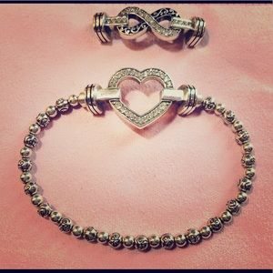 Brighton Clique Beaded Bracelet with Two Ornaments